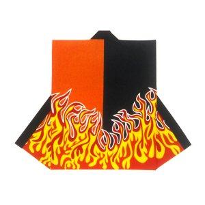 画像1: 和太鼓むけ袖なし法被日本の歳時記【炎黒オレンジ】 (1)