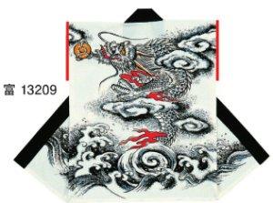 画像1: 大人袖無半纏 龍  和太鼓むけ袖なし法被「お祭り天国」 (1)