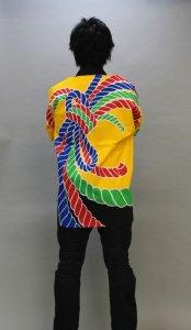 画像1: 安心1枚から衿ネーム入れコミコミ価格「黄熨斗」【祭り法被】安心1枚からこの価格 (1)