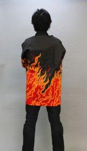 画像1: 安心1枚から衿ネーム入れコミコミ価格「炎」【祭り法被】安心1枚からこの価格 (1)