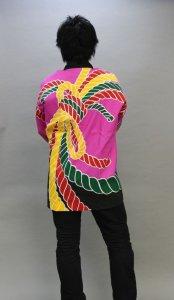 画像1: 安心1枚から衿ネーム入れコミコミ価格「ピンク熨斗」【祭り法被】安心1枚からこの価格 (1)