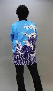 画像1: 安心1枚から衿ネーム入れコミコミ価格「波」【祭り法被】安心1枚からこの価格 (1)