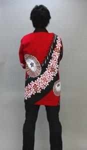 画像1: 安心1枚から衿ネーム入れコミコミ価格「桜傘」【祭り法被】安心1枚からこの価格 (1)