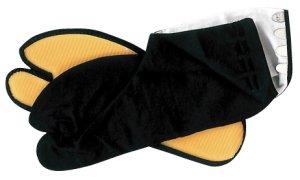 画像1: 黒祭り足袋 ゴム底(簡易地下足袋) (1)