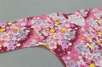 画像1: 鯉口シャツ【在庫僅か】乱菊ならぬ乱薔薇!と桜柄ピンク地です