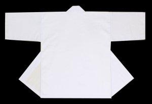 画像1: 衿文字10文字まで入って1500円ポッキリの無地法被 白 マッシロ衿(襟)も白です! (1)
