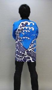 画像1: 安心1枚から衿ネーム入れコミコミ価格「波」【祭り法被】 (1)