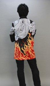 画像1: 安心1枚から衿ネーム入れコミコミ価格「炎龍」【祭り法被】 (1)