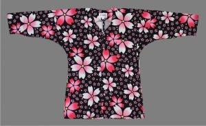 画像1: 鯉口シャツ【歳時記】黒大桜 (1)