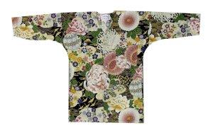 画像1: 【鯉口シャツ】祭り、制服に最適!【豪華菊】 (1)