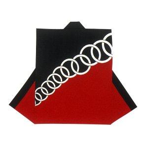 画像1: 和太鼓むけ袖なし法被日本の歳時記【赤黒に輪】 (1)